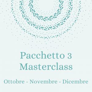 Pacchetto 3 masterclass